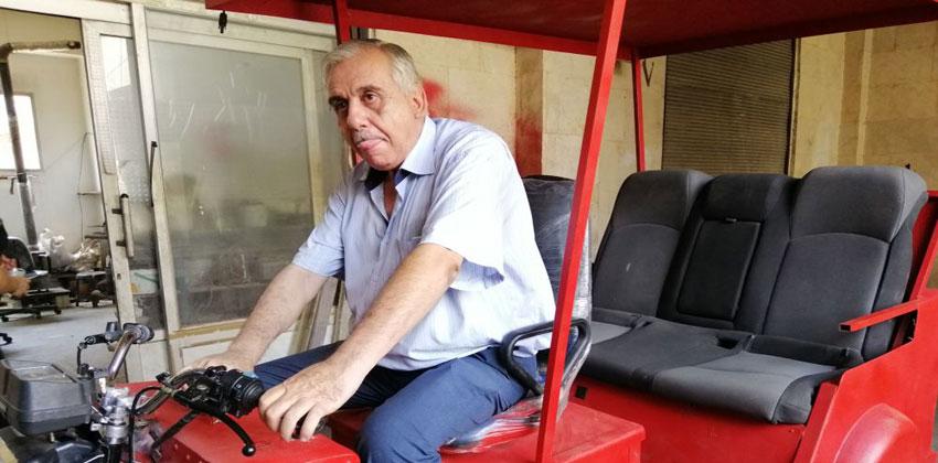 مهندس من حلب يصنع سيارة تعمل بالطاقة الشمسية