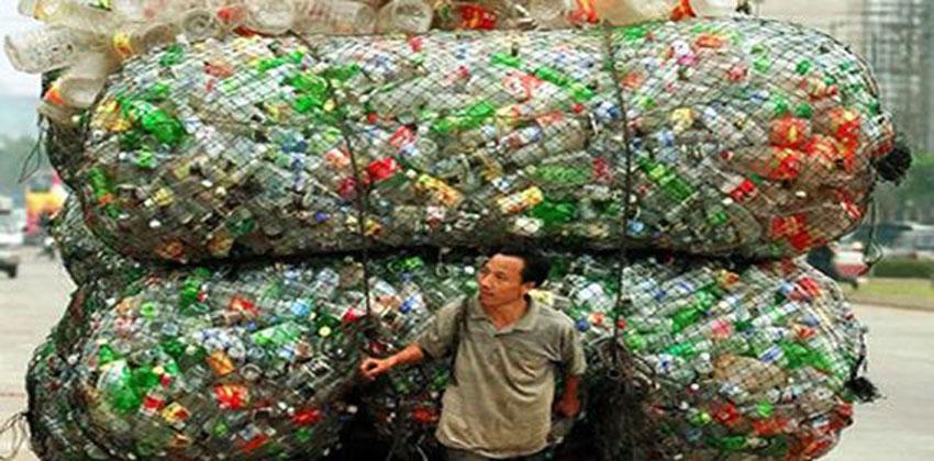 إعادة تدوير الزجاجات البلاستيك
