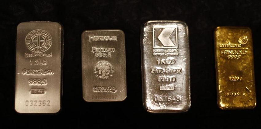 البلاديوم والذهب